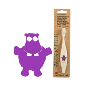 Jack N' Jill Bio Toothbrush (TM) Compostable & Biodegradable Handle HIPPO