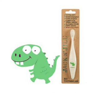 Jack N' Jill Bio Toothbrush (TM) Compostable & Biodegradable Handle DINO